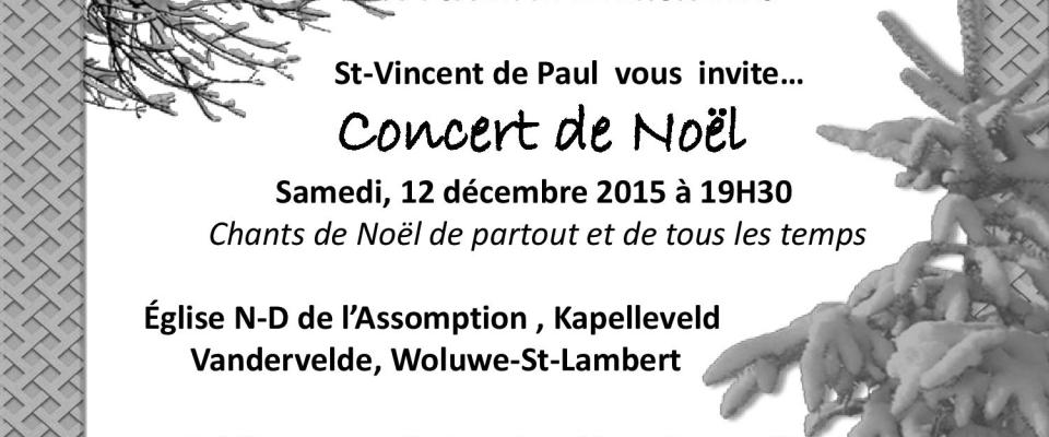 Affiche Concert De Noël 2015